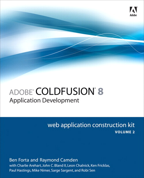 Adobe ColdFusion 8 Web Application Construction Kit, Volume 2: Application Development, Adobe Reader