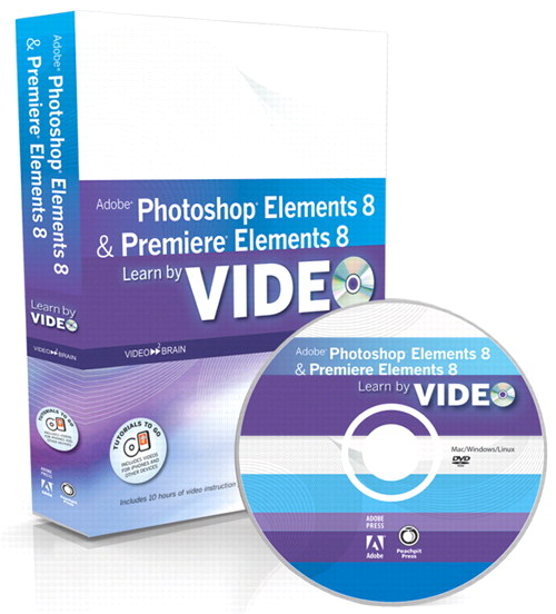 Learn Adobe Photoshop Elements 8 and Adobe Premiere Elements 8 by Video