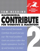 Macromedia Contribute 2 for Windows and Macintosh: Visual QuickStart Guide