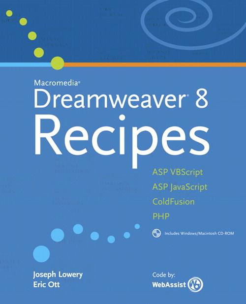 Macromedia Dreamweaver 8 Recipes